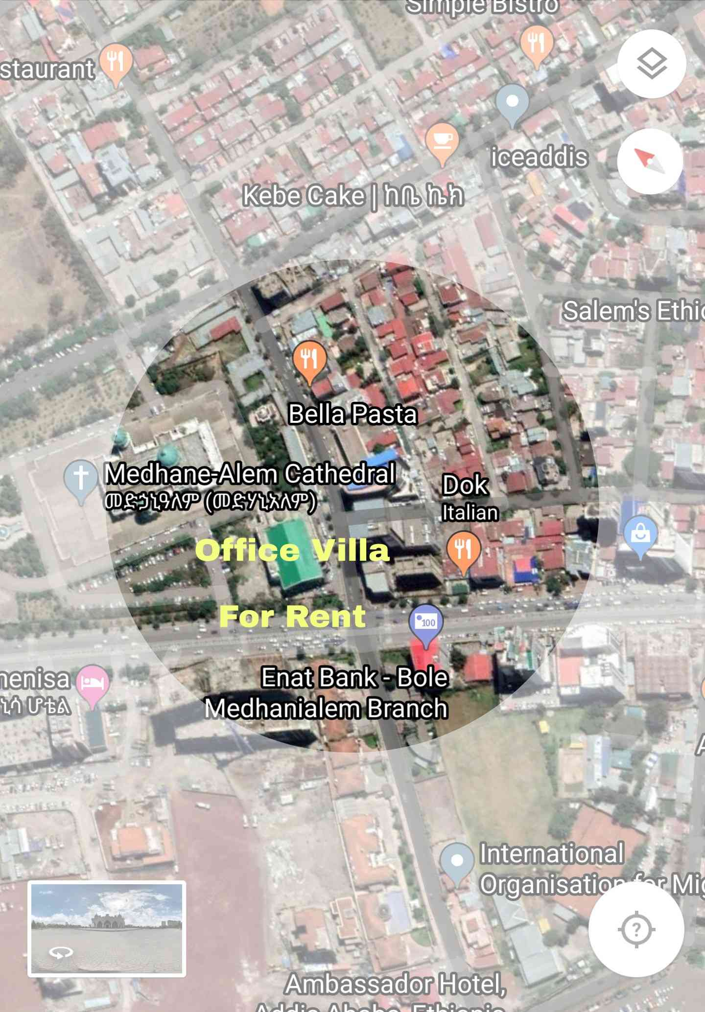Business/Office Villa For Rent At Bole Medhanialem Main Road